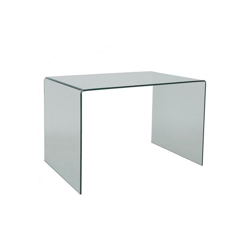 small glass desk
