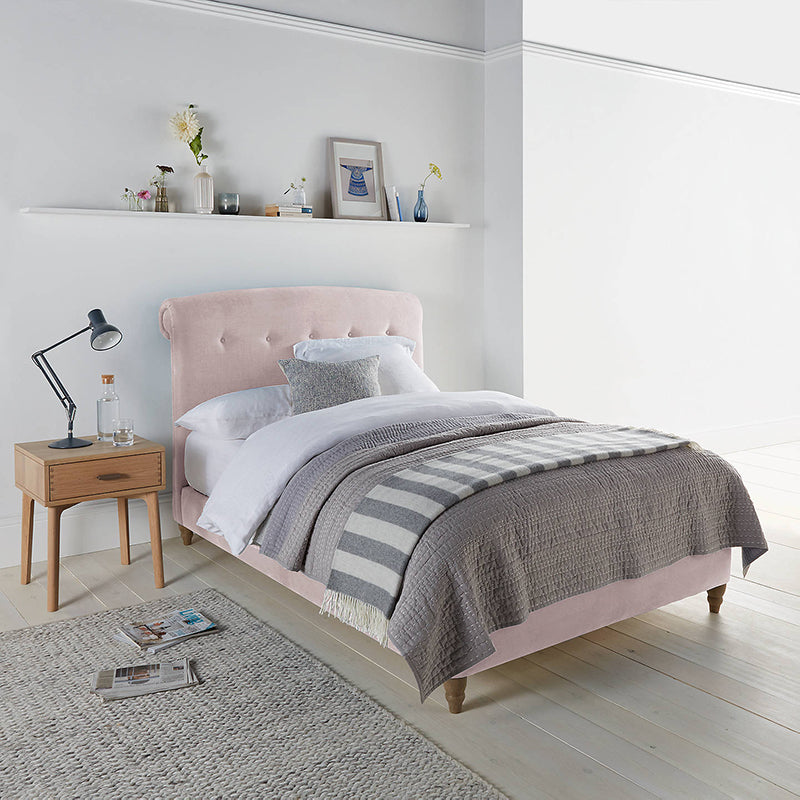 Peachy Bed Frame by Loaf at John Lewis in Brushed Cotton, Double, Faded Pink