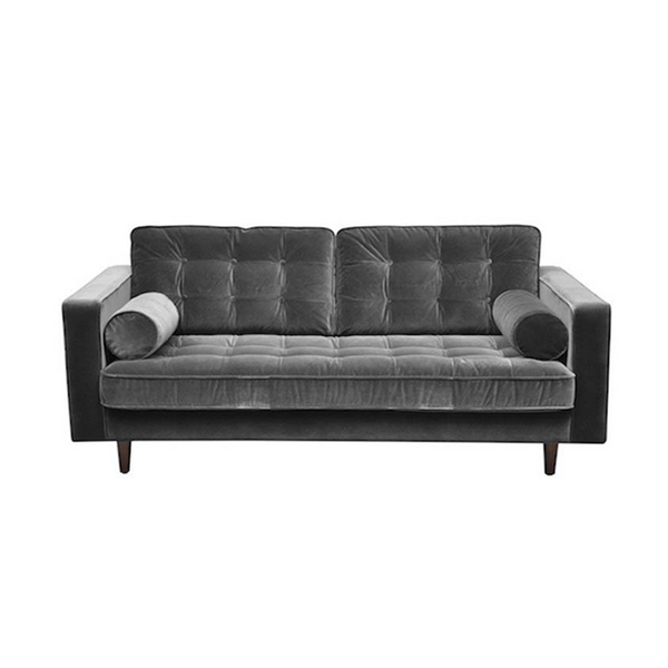 Velvet grey small sofa