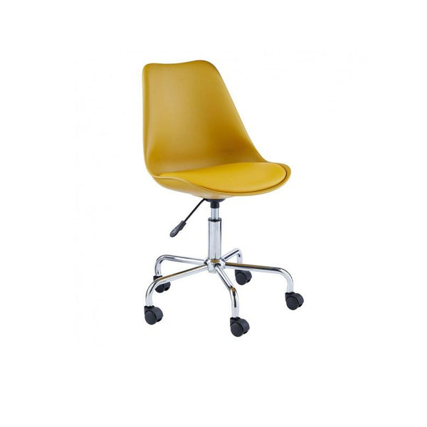Yellow upholstered office chair