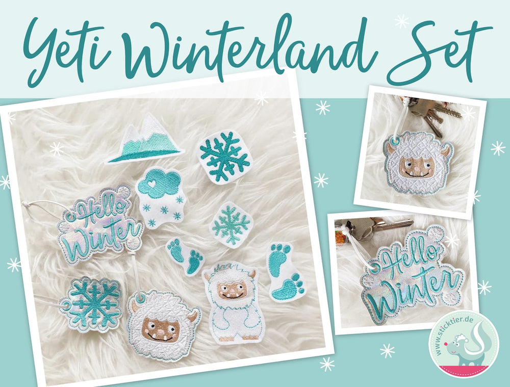 Yeti Stickdatei Set von Sticktier