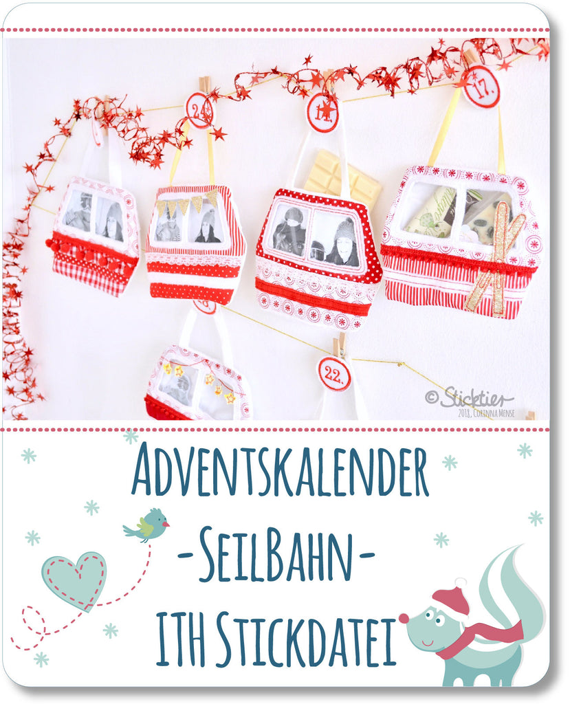 Adventskalender Stickdatei