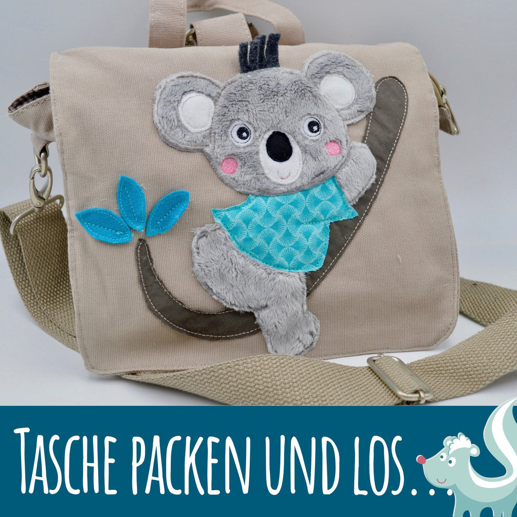 Stickdatei Koala Applikation für die Stickmaschine