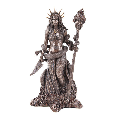 Hecate Goddess of Necromancy and Magick Bronze Statue