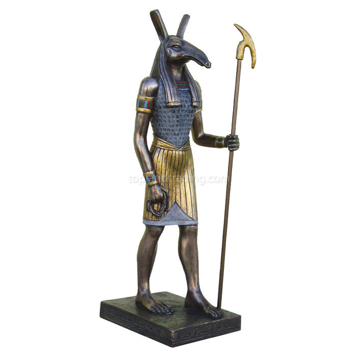 "Set God of Storms Egyptian 8.75"" Statue"