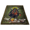 Kali the Bloodthirsty Goddess Fleece Blanket