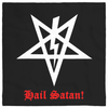 Magister Satanas Lightning Bolt & inverted pentagram Altar Cloth