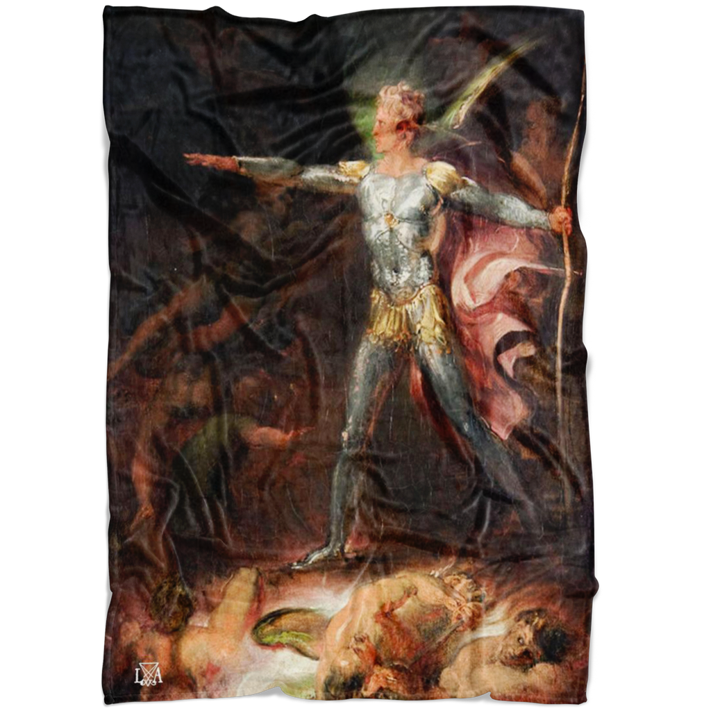 Satan Paradise Lost Fleece Blanket