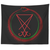 Leviathan Ouroboros Lucifer Sigil Tapestry