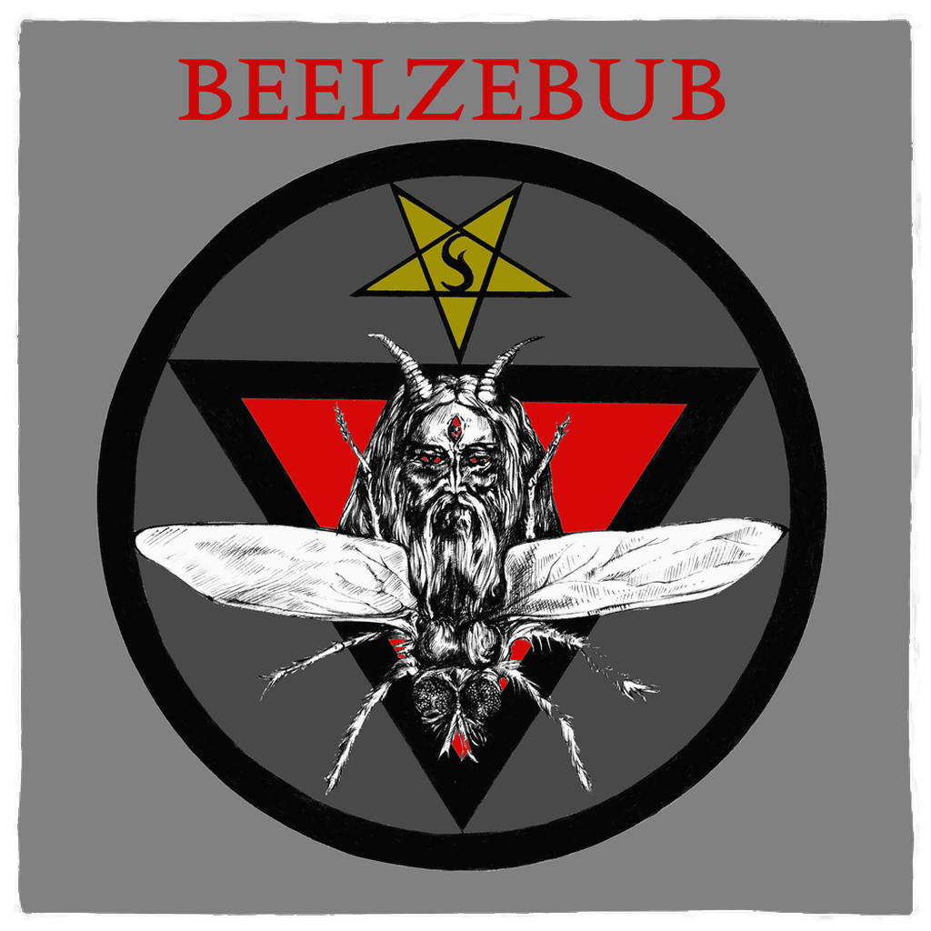 Beelzebub Lord of Flies Prince of Demons Altar Cloth