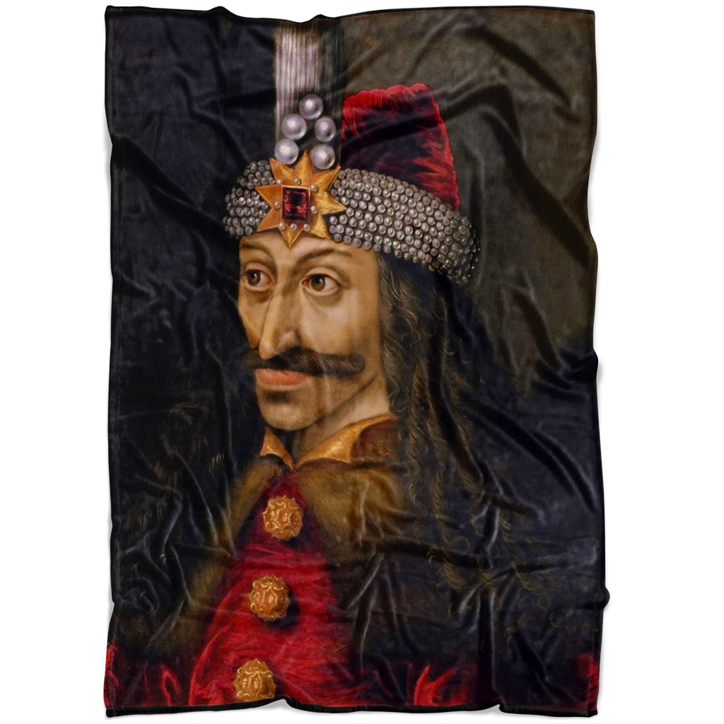 Vlad Tepes Dracula Painting Fleece Blanket