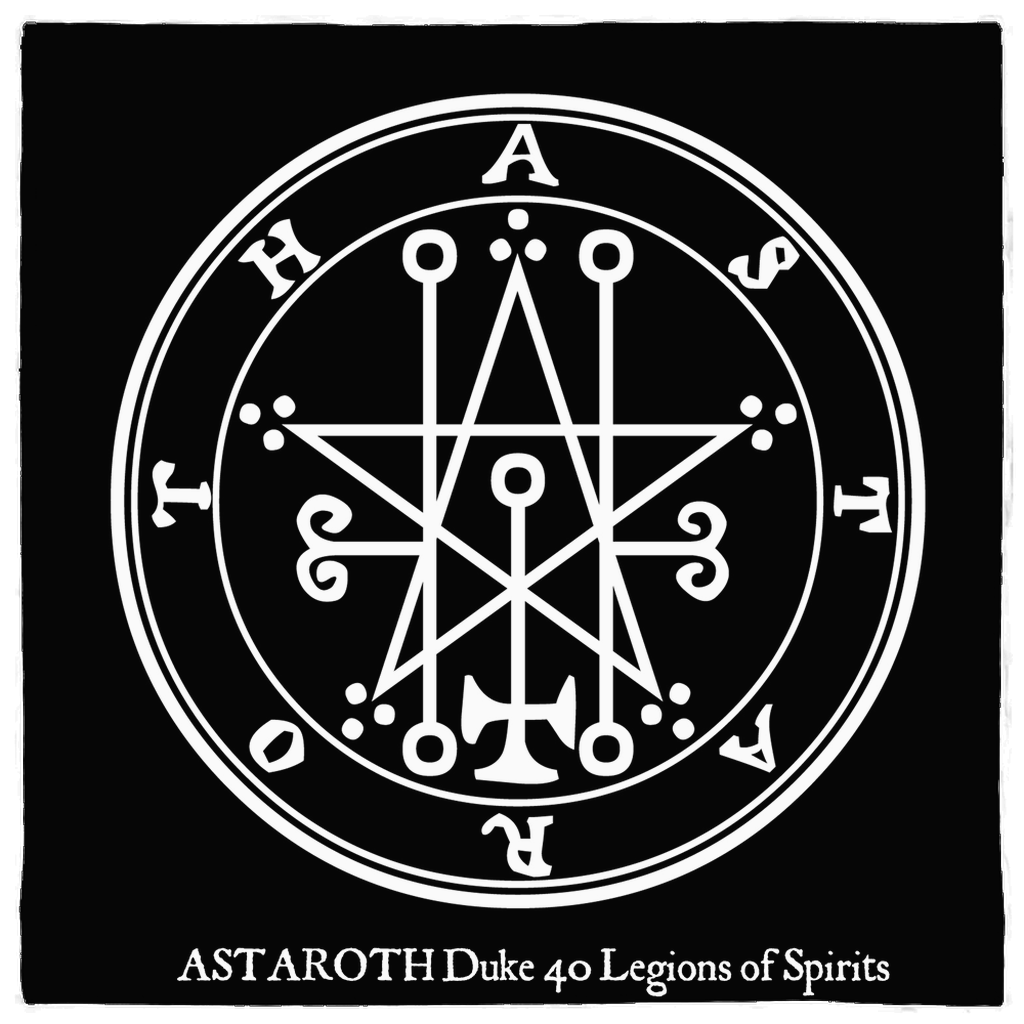 Sigil of Astaroth Goetia Altar Cloth Banner