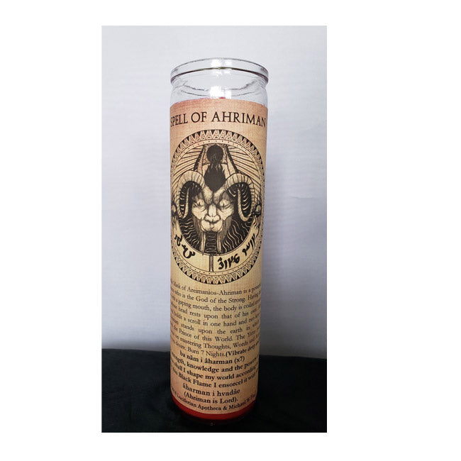 Ahriman: Inspire Primal Instincts Glass Spell Candle