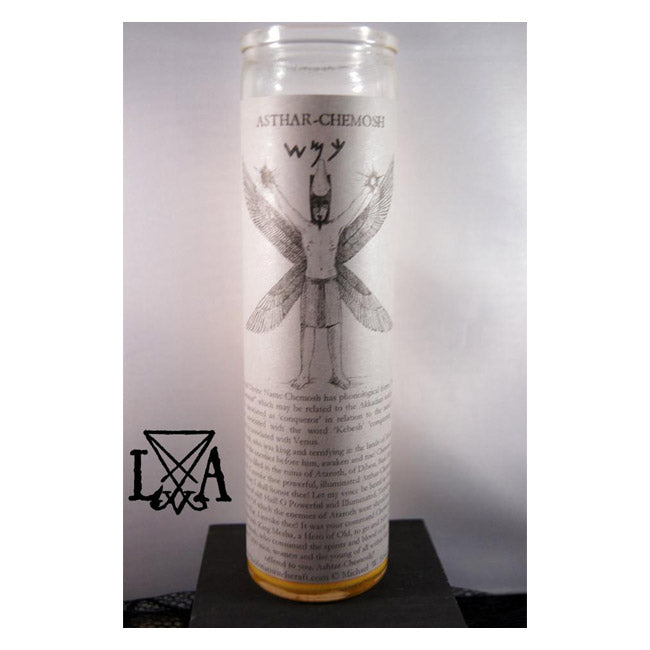 Chemosh: Inspire Conquering, Morning Star & Underworld God Glass Spell Candle