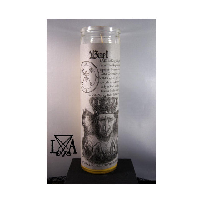 Bael: Inspire Hidden Knowledge/Insight Glass Spell Candle