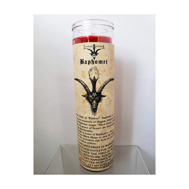 Baphomet/Sabbatic Goat: Inspire Wisdom/Knowledge Glass Spell Candle