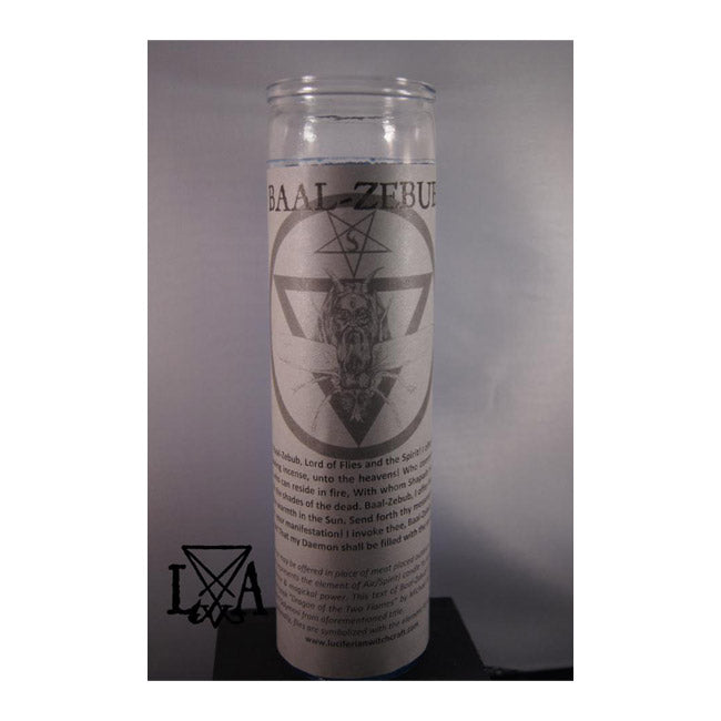 Beelzebub: Inspire Insight & Divination Glass Spell Candle