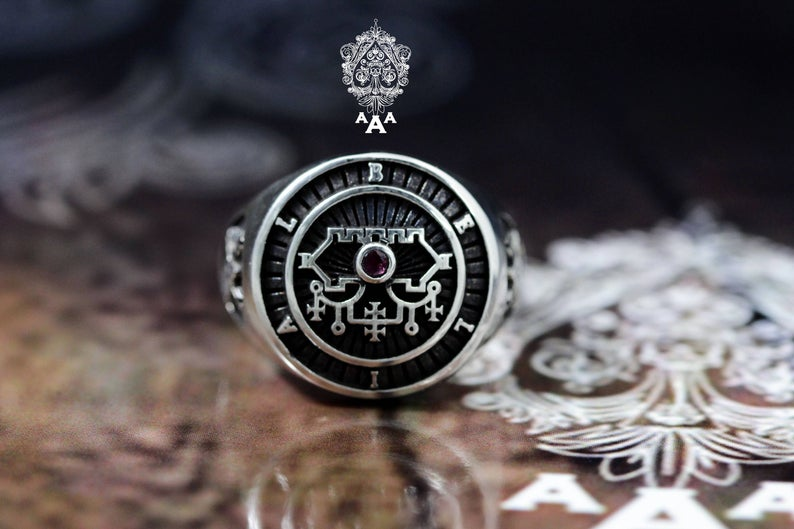 Sigil of Belial Silver Ring