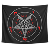 Infernal Union of Samael & Lilith Luciferian Red & White Tapestry