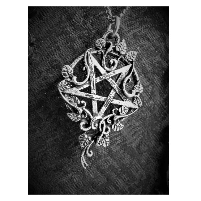 Inverted Ivy Pentagram Necklace