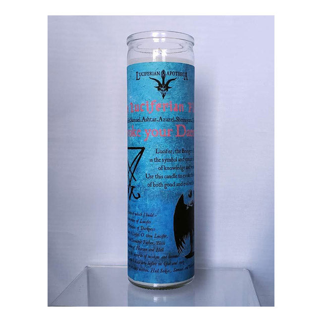 Lucifer: Discover True Will Daemon Glass Spell Candle