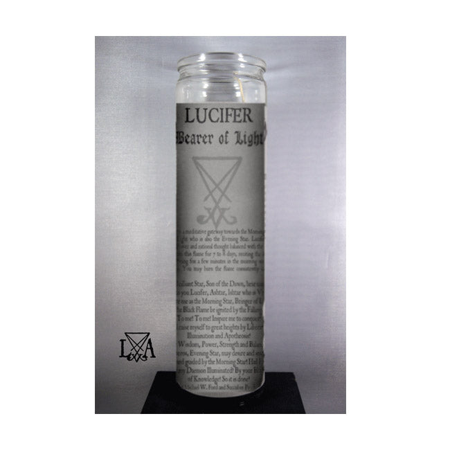 Lucifer - Bearer of Light 7 Day Glass Spell Candle to Inspire Self-Motivation, Knowledge, Spiritual insight