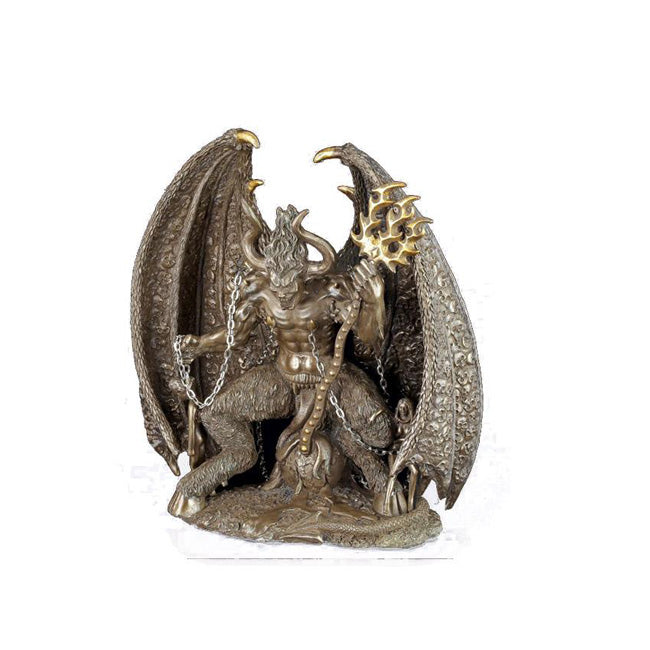 Lucifer Fallen Angel and Devil in Hell Bronze Cast Statue