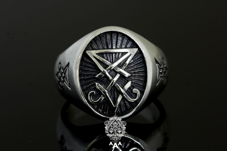 Sigil of Lucifer Ring .925 Silver
