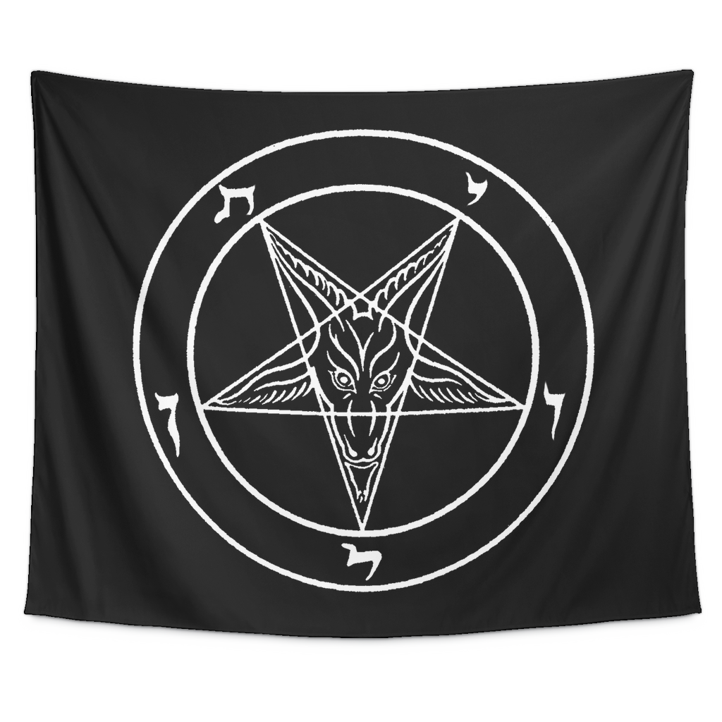 Satanic sigil of baphomet tapestry the luciferian apotheca satanic sigil of baphomet tapestry biocorpaavc Images