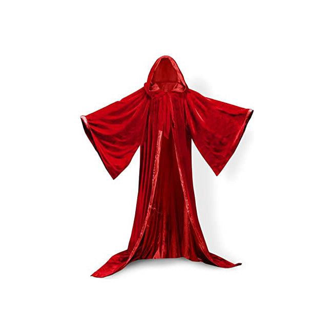 High Quality Red Magician Hooded & Sleeved Robe