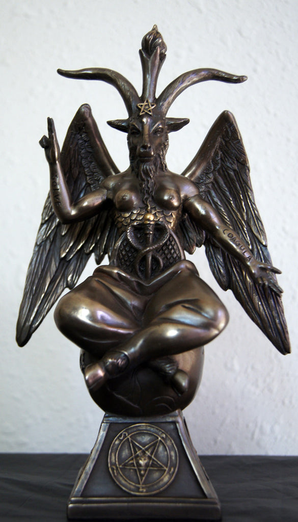 Baphomet - The Sabbatic Goat w/ Sigil Bronze Statue 9""