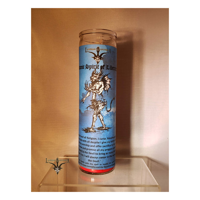 Satanic Spirit - Inspire Spiritual Self-Liberation Glass Spell Candle