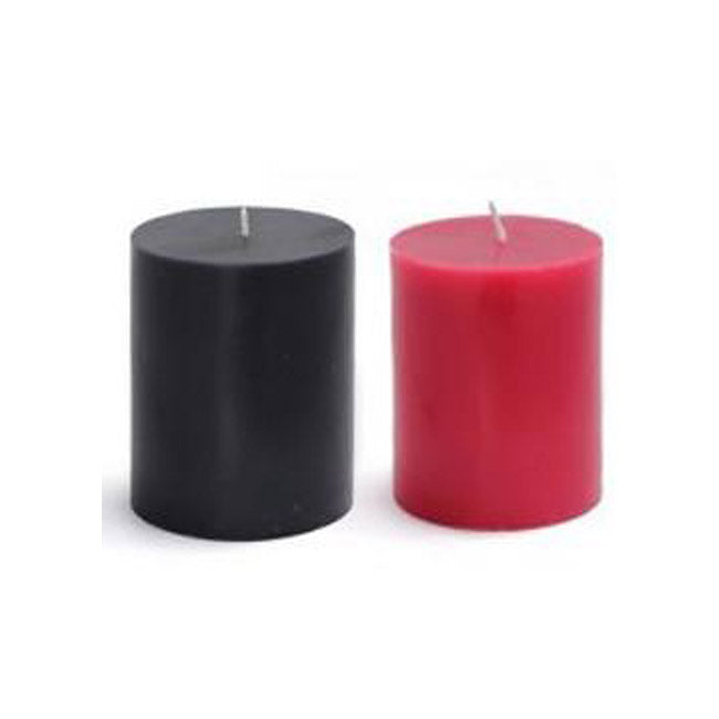 "3"" x 3"" Black or Red Pillar Candles"