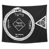 Luciferian Circle of Goetic Black Magick and Invocation Tapestry