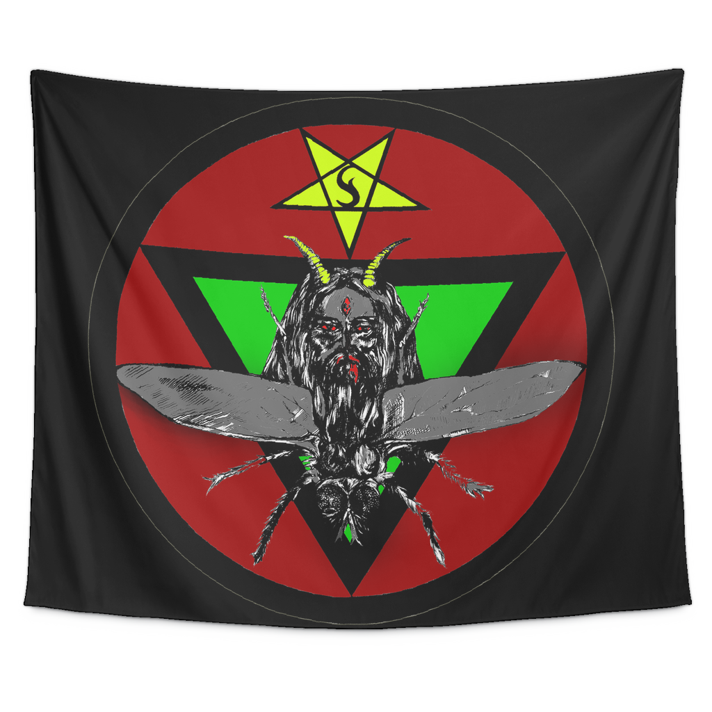Lord of Flies (Beelzebub) Colored Sigil Tapestry