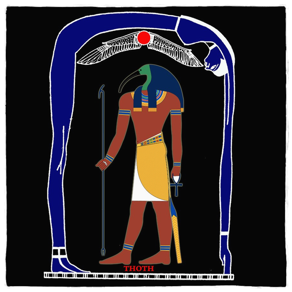 Thoth Egyptian God of Wisdom Altar Cloth Banner