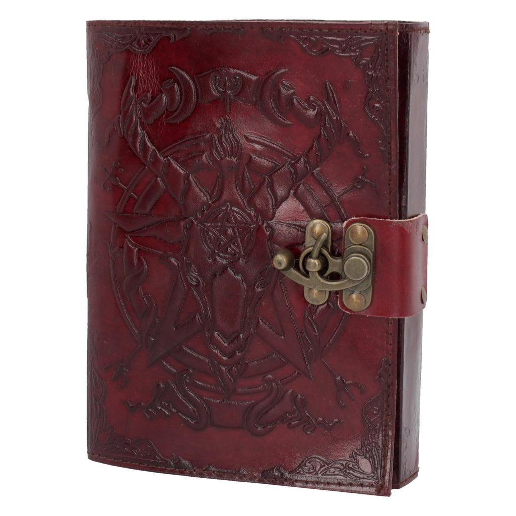 Baphmet Sabbatic Goat Leather Blank Journal Book of Shadows