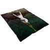 Vampire Bat Woman of the Night fleece blanket