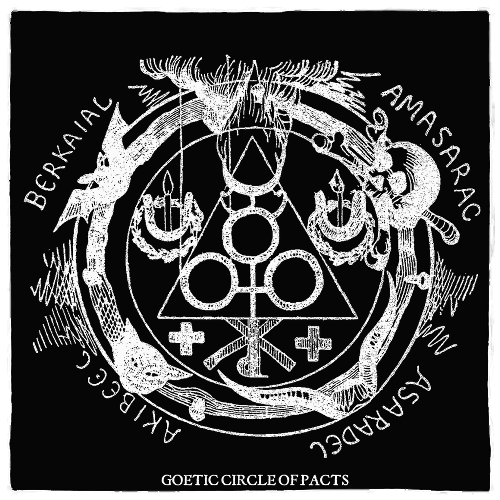 Goetia Altar Cloth - Goetic Circle of Black Evocation