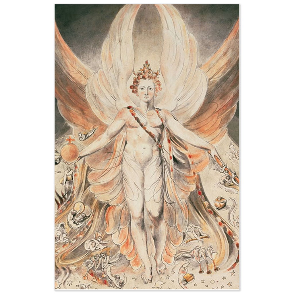 Satan (Lucifer) in his Original Glory by William Blake Poster