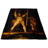 Satan and Beelzebub Paradise Lost Fleece Blanket