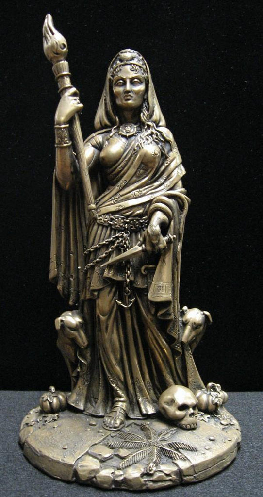 Hecate Phosphorus Dark Goddess of Magick Bronze Finish Statue