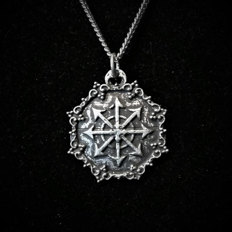Antiqued Finish Chaos Star pendant