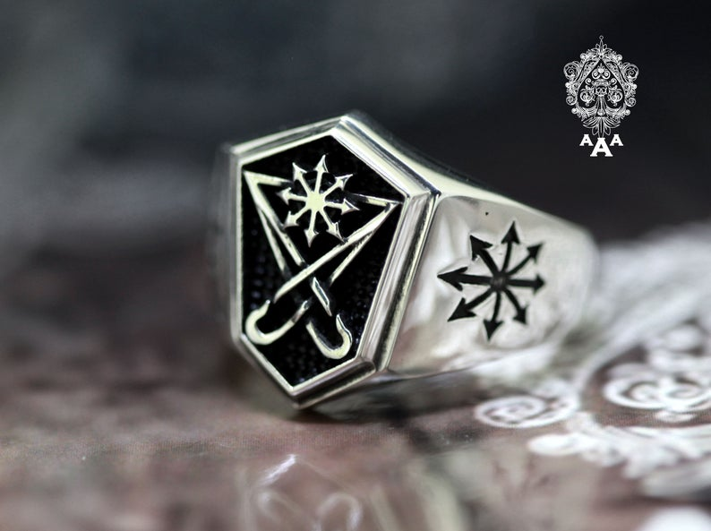 Sigil of Lucifer - Chaos Star Sterling Silver Ring