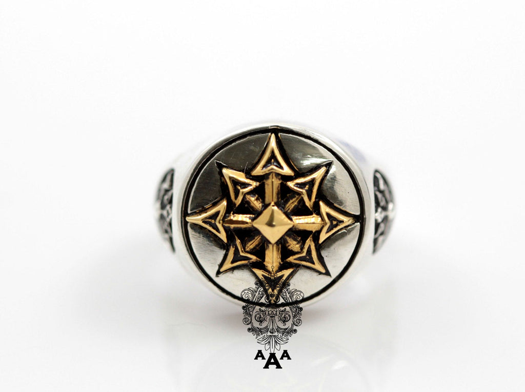Sigil of Chaos (Chaos Star)Ring - Magick Sterling Silver .925