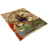 Antichrist upon Leviathan Medieval Fleece Blanket