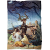 Witches Sabbat Devil Horned God Lust Fleece Blanket