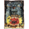 Dark Castle of Hell Demons Fleece Blanket
