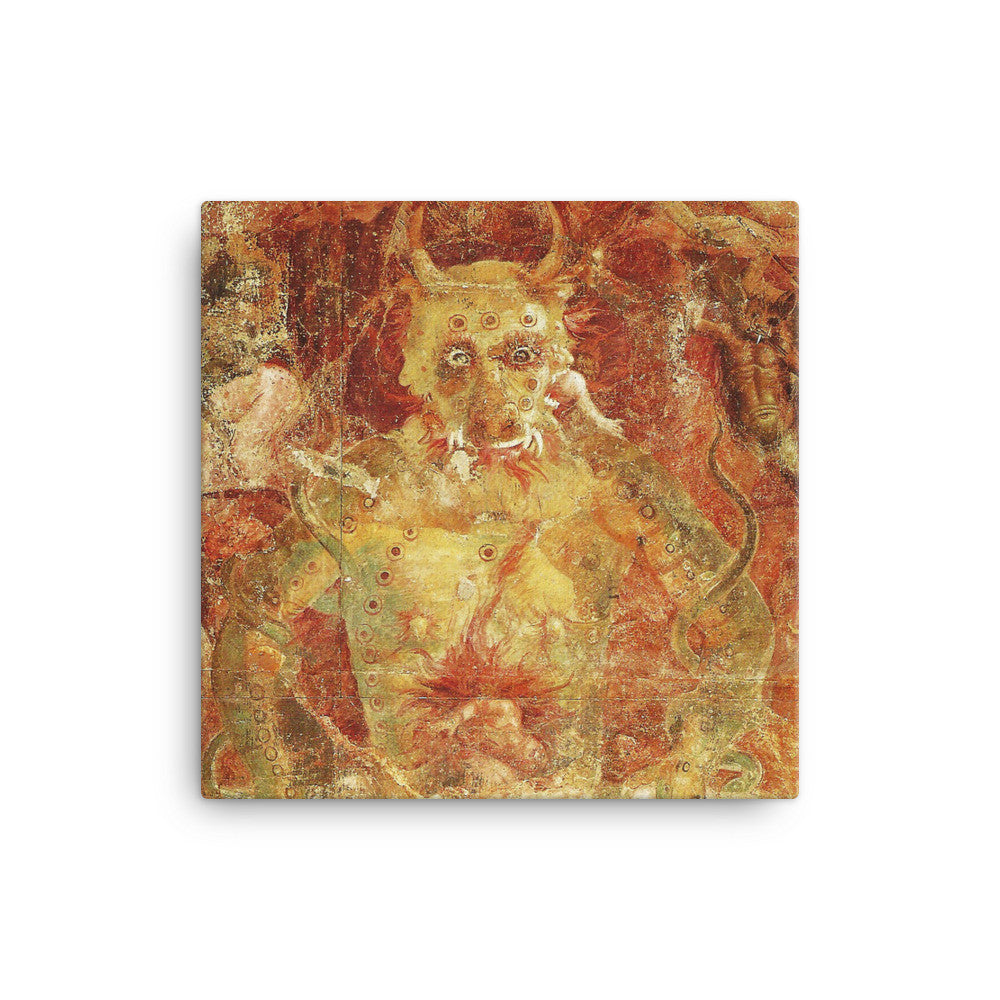 Devil Eating Souls Quality Canvas