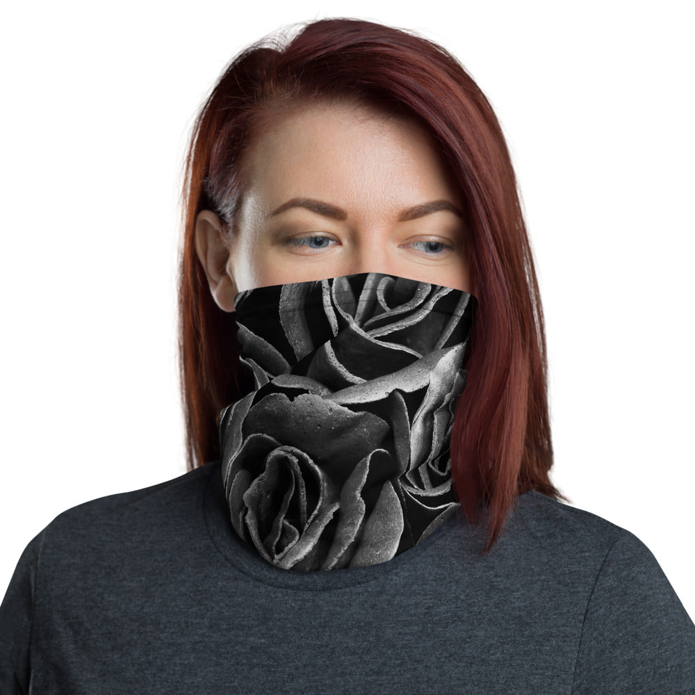 Black Rose Neck Gaiter